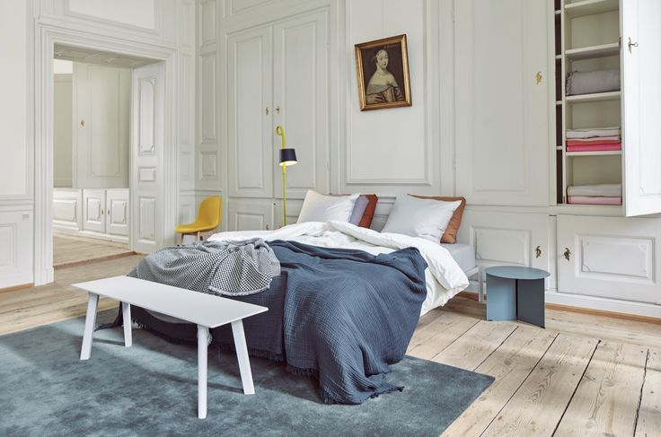 CPH deux bench, Crinkle bedspread and Checked out Plaid