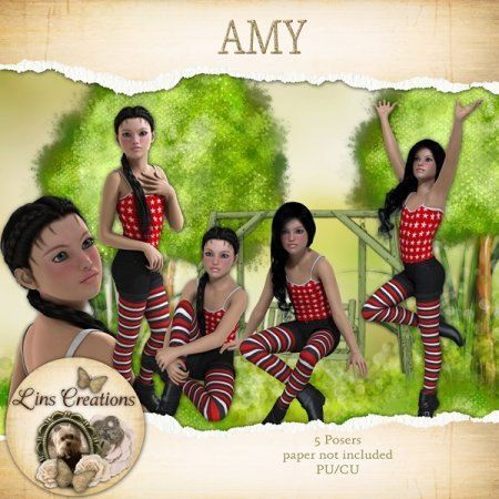 Amy by LinsDigitalDesigns on Etsy