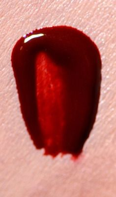 """collection of blood red lipsticks from ellis faas.  """"…it is based on the natural colour of blood. That colour is the same in all of us, so therefore it doesn't clash with anyone's skin."""""""