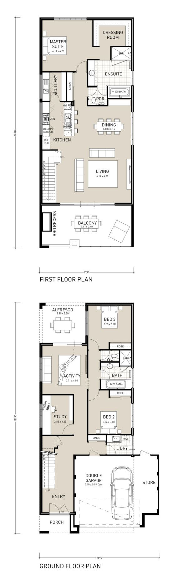 43 best Reverse Living House Plans images on Pinterest | Floor plans ...