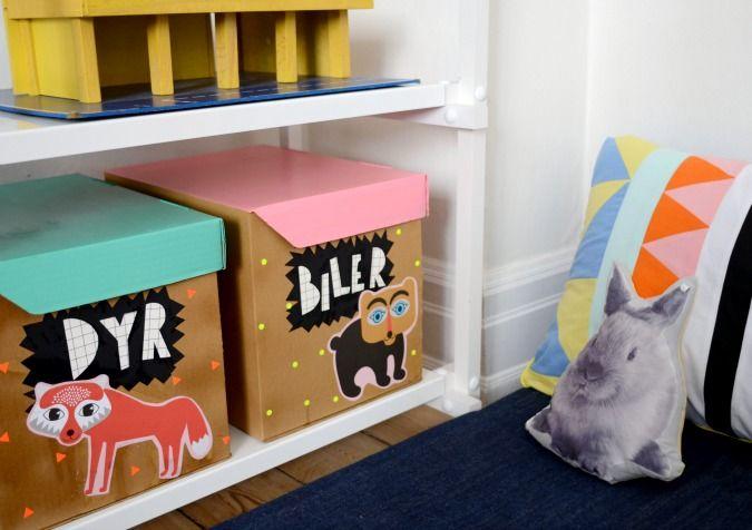 DIY: Budgetvenlig opbevaring på børneværelset   LeizyB   Indretning, design og krea
