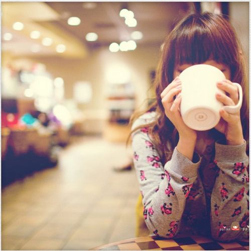 at the coffee shop