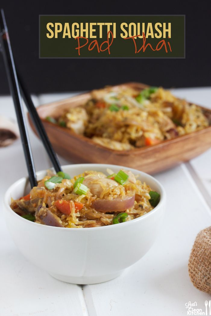 Spaghetti Squash Pad Thai Shared on https://www.facebook.com/LowCarbZen | #LowCarb #Lunch #Dinner