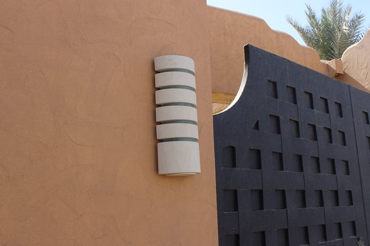 Wall lamp for indoor and outdoor use, made of Lecce stone with diffuser made of Float glass or sandblasted Plexiglas.
