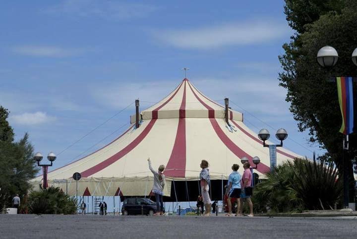 Il circo è arrivato a Rimini! Continuano i preparativi!