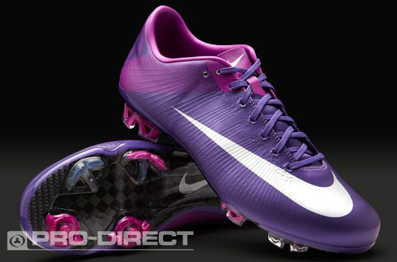 Nike Football Boots - Nike Vapor Superfly III FG - Firm Ground - Soccer Cleats - Court Purple-Metallic Silver