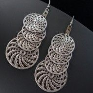 Earrings Anthracite Spirals