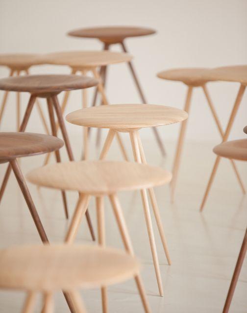delicately skinny spindly stools