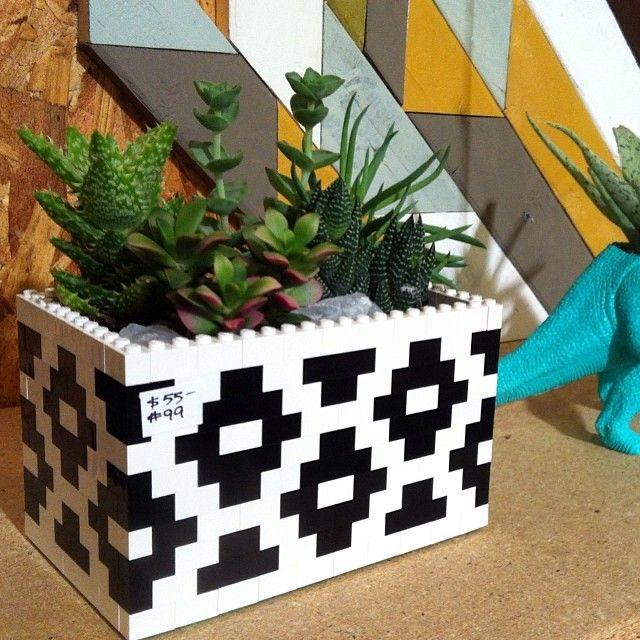 LEGO planter @ the Blue Geenie