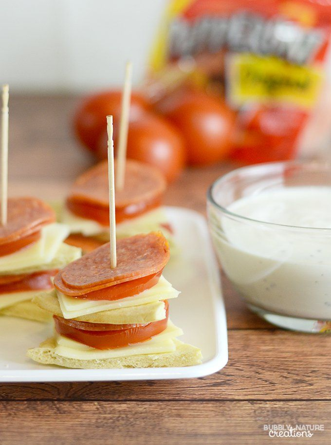 Pepperoni Pizza Stackers (Hormel Pepperoni Easy Appetizer)
