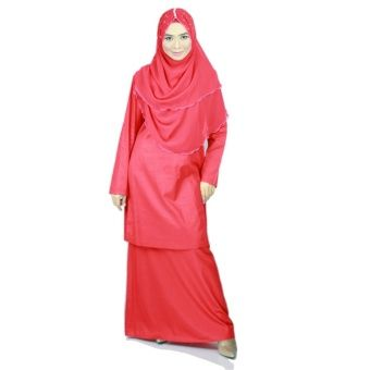 Baju Kurung Moden Ariani - Red Introducing a modern element to the elegance of traditional wear. Ariani modern baju kurung by Anisse was designed with simplicity in mind. Nice cutting with comfortable skirt has make it awesome and elegant for daily wear. It is Anisse signature col... #bajukurung #bajukurungmoden