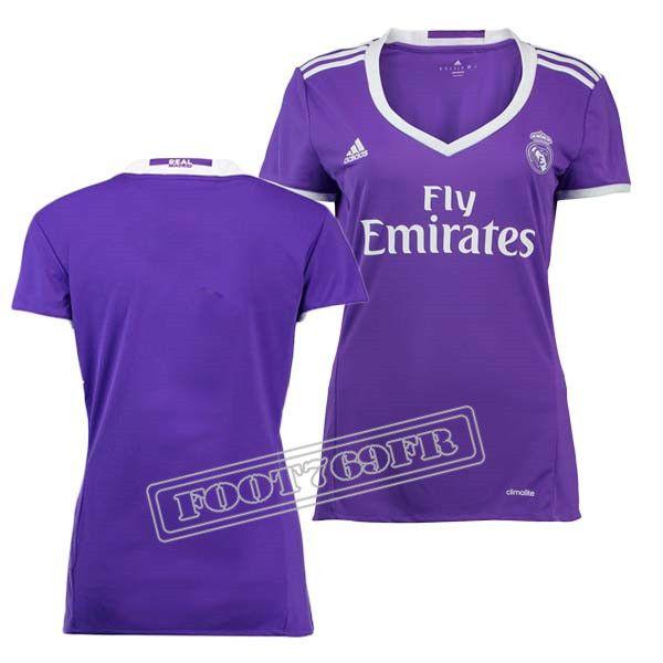 Promo Maillot Du Real Madrid Femme 16/17 Exterieur Violet   Foot769Fr