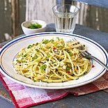Спагетти по-милански с цукини