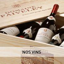 Domaine Faiveley,  Dégustés dans leur jeunesse ou après des années en cave, les vins Faiveley vous réservent de formidables instants de dégustation  http://www.saq.com/webapp/wcs/stores/servlet/SearchDisplay?storeId=20002&catalogId=50000&langId=-2&pageSize=20&beginIndex=0&searchCategory=Entete&searchTerm=faiveley