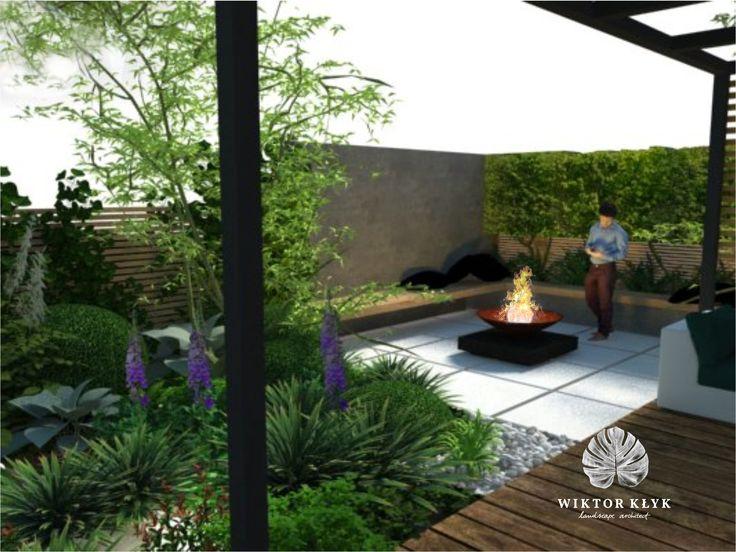 Garden in Szczecin. Project view. #Gardens, #Garden Design, #Landscape #Design, #Gardening, #Tuinen, #Jardin, #Modern gardens, #Formal gardens, 庭, trädgård, #花园, #hage, #hortus, #giardino, сад, haver, #ogród, #κήπος, #jardim, #Bāgh, #bahçe, #garten