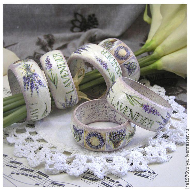 """Купить кольца для салфеток """"Лаванда"""" - васильковый, кольца для салфеток, кольцо сервировочное, кольцо для сервировки"""