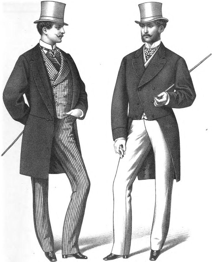 Men In 19th Century 19th Century Fashion Pinterest