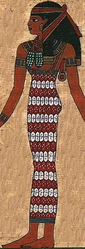 A kalasiris was the most important garment worn by women through-out the history of ancient egypt.