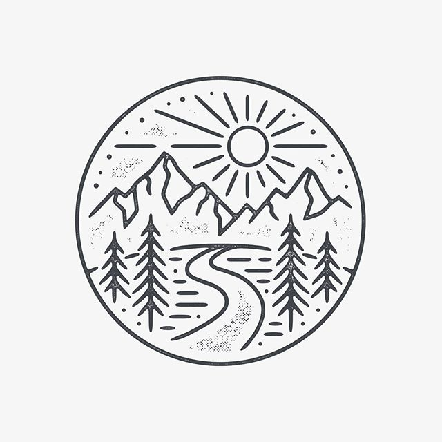 circle drawings drawing draw easy simple doodle landscape inside cool things nature designs tattoo sketch tattoos sketches instagram mountain illustration