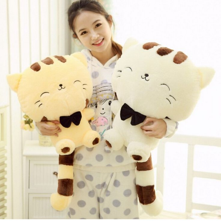 Lovely Smiling Cat Stuffed Plush Toy ➪ Use code CUTE to get 20% off your order.