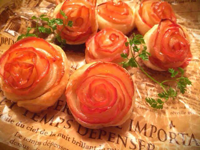 ✾薔薇のアップルパイ✾ 簡単で美味しかったので、お友達に教えたらみんな作ってくれて、好評でした♪皆さんも是非!