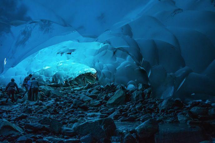 Mendenhall Ice Caves of Juneau #alaska #usa