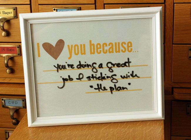 I <3 you because... printable..write with dry eraser marker..cute way to leave a note..