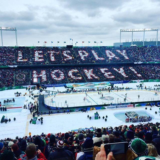 Is it October yet? MN Wild Stadium Series Hockey 2/21/2016.