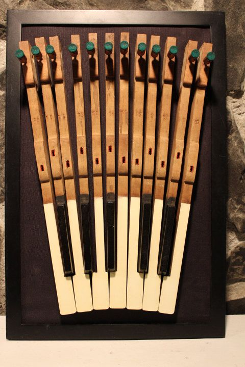 Repurposed Piano Parts into Wall Decor Art by LyonsWoodcraft