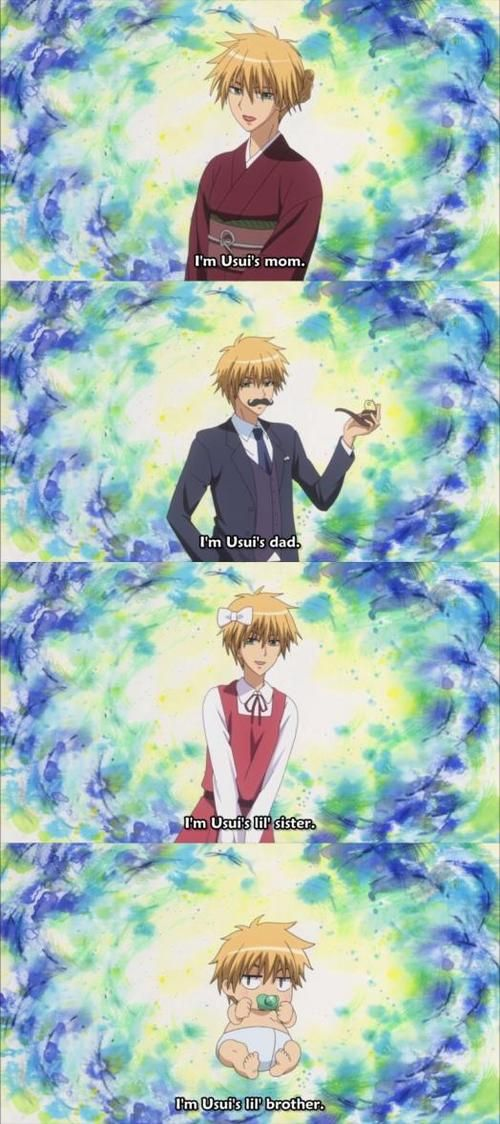 Lol Usui (kaichou wa Maid sama) u just can't imagine him with a family