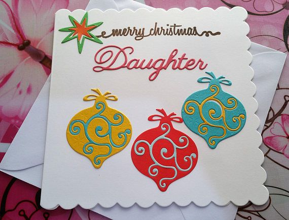 Christmas Card Daughter  Handmade Cards  Happy Christmas
