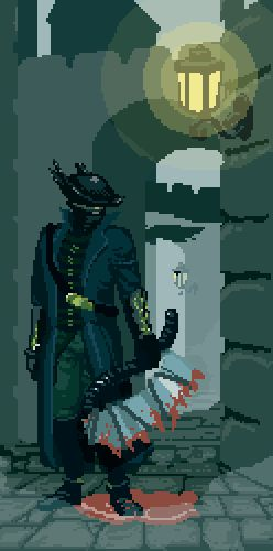 Bloodborne Pixel Artist:@Cannonbreed Source:cannonbreed.com