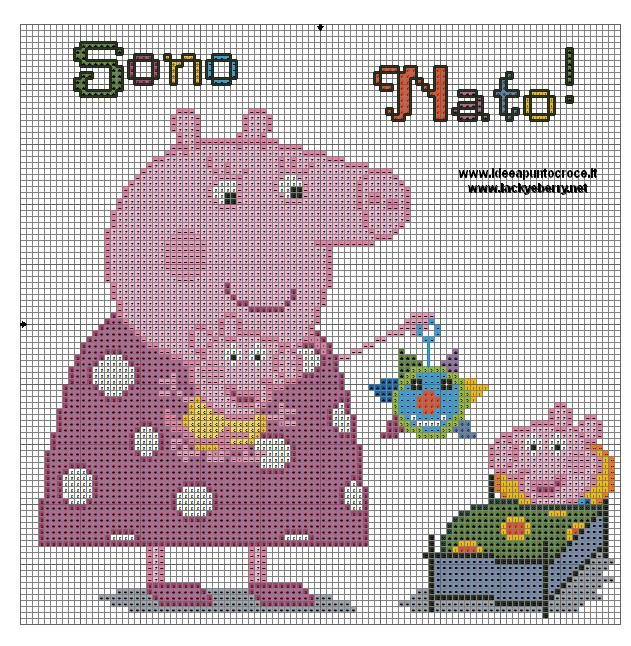 PEPPA PIG PUNTO CROCE - CROSS STITCH by syra1974
