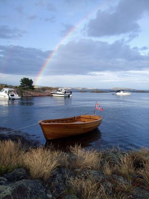 The picture was taken in #Grimstad archipelago and is a bit typical for this summer with its changing weather. #Norway