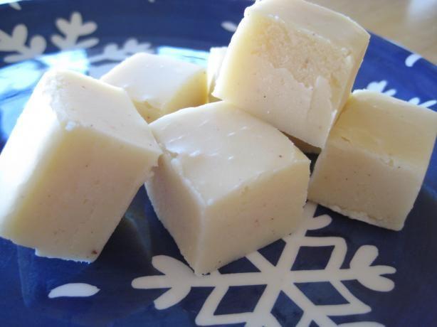 White Chocolate Eggnog Fudge: Eggnog Fudge, Chocolates, Fudge Recipes, Food, Chocolate Eggnog, Sweet Tooth, White Chocolate Fudge, Candy Recipes, Dessert