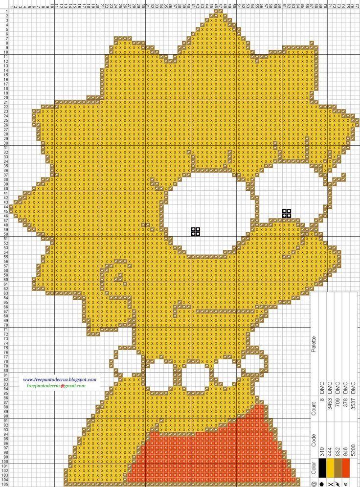 Lisa+Simpson+-+Cross+Stitch+Punto+de+cruz.jpg (1107×1499)