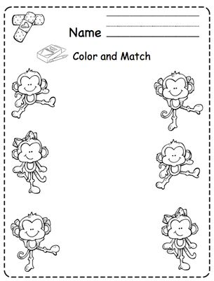 five little monkeys jumping on the bed printable from preschool printables on teachersnotebookcom - Coloring Pages Monkeys Jumping Bed
