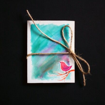 #design #painting #watercolor #colorful #drawing #bird #card