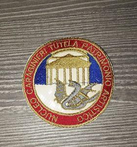 Patch Nucleo Carabinieri Tutela Patrimonio Artistico Diametro 7.5 Nuovo Ricamato | eBay