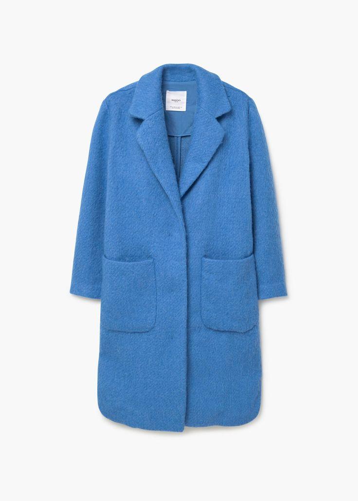 Cotton wool-blend coat - Coats for Woman | MANGO United Kingdom