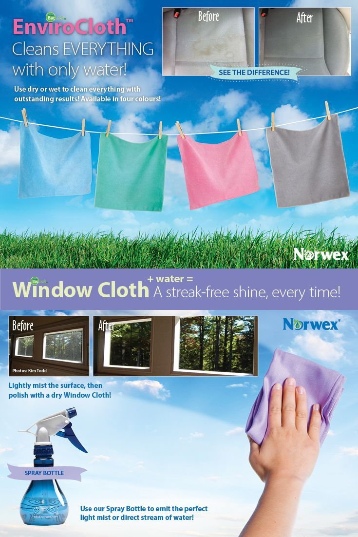 Norwex Enviro cloths are amazing!  Add the window cloth and get streak free window and mirrors every time!