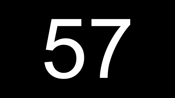 Why not 57?