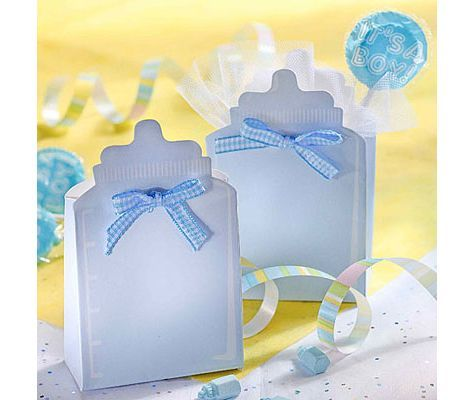 Blue Bottle Baby Shower Favor Box Kit 24ct   Party City