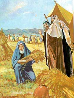 paintings of ruth bible | Ruth gleans for grain in the field of Boaz.
