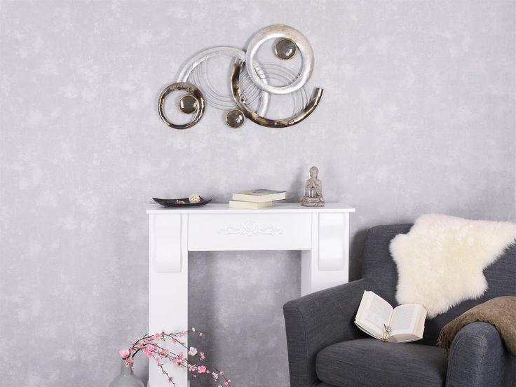 Superb WAND DEKO Design Art Kreise IV aus Metall Breite cm H he cm schwarz