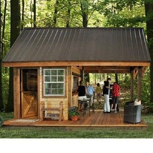 New western backyard outdoor cabana party bar building for Bathroom designs 12x8