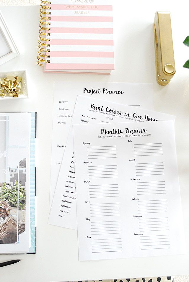 A free printable planner--The Whole House Home Decor Planner--the same