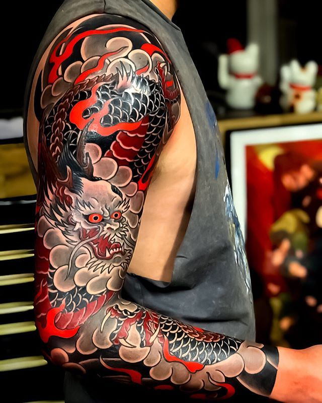 Search Inspiration For A Japanese Tattoo Japanese Sleeve Tattoos Japanese Tattoo Samurai Tattoo Sleeve