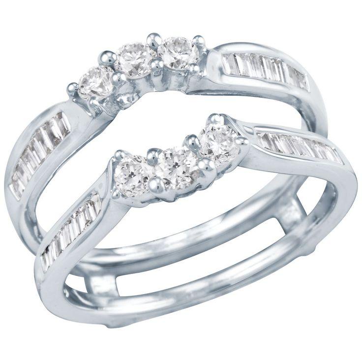 Diamond Wedding Bands   Diamond Wedding Band – 3/4ct TW Diamond Solitaire Ring Insert ...
