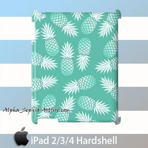 Aqua Pineapple iPad 2/3/4 Case Cover Hardshell
